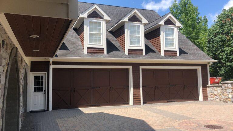 Nice custom garage door in Noblesville in
